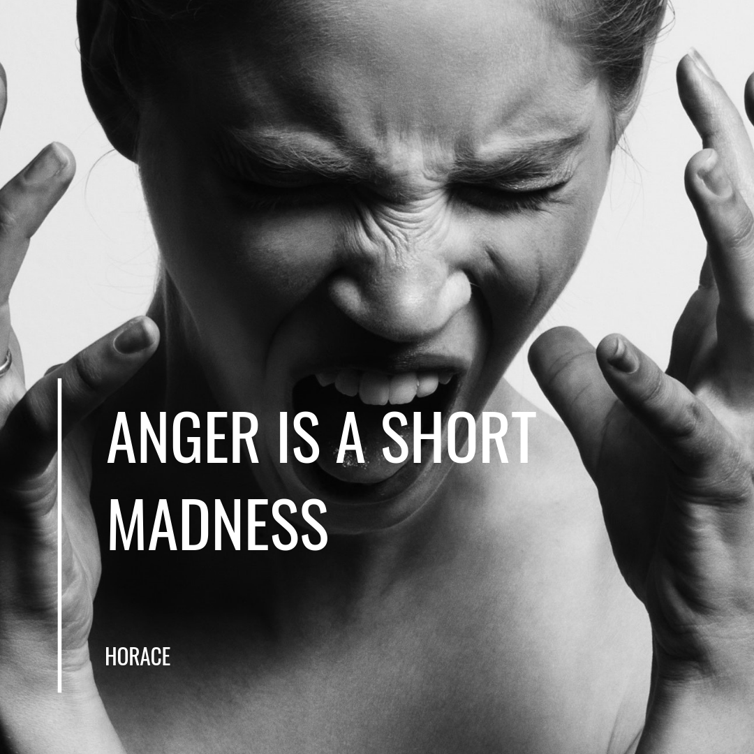 Angry woman. Anger is a short madness